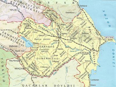 Azerbaycan xeritesi siyasi inzibati.